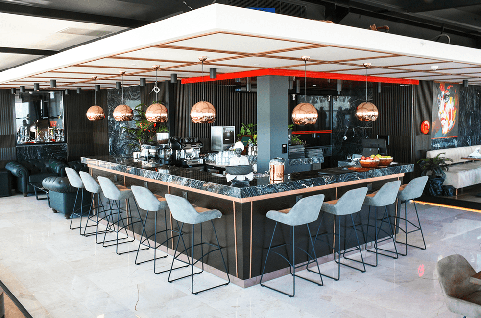 Premiere bar chair in Makel Hotel project