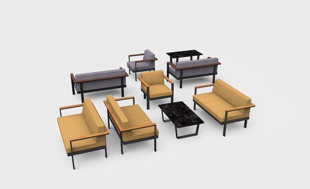 5A Forte Sofa collage